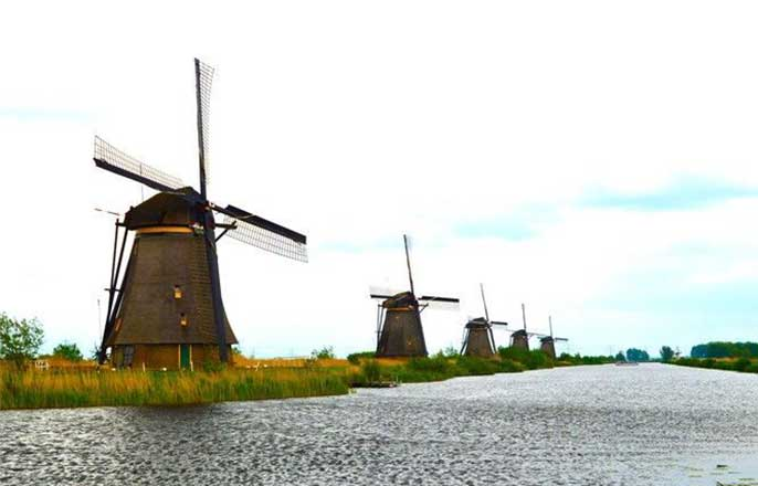 moulins-kinderdijk-hollande